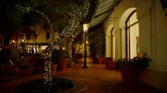 Outdoor Mall in Santa Barbara, CA Stock Footage