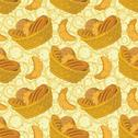 Stock Illustration of Seamless background, bread in a basket