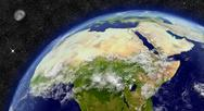 Stock Illustration of north africa on planet earth