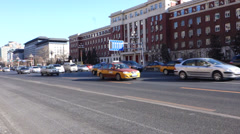 cars driving on Chang'an Avenue - stock footage