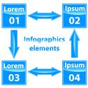 Stock Illustration of infographics elements