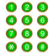 Värikkäitä vektori numerot Piirros