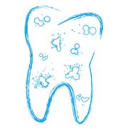 Tooth with caries Stock Illustration