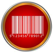 Bar code button Stock Illustration