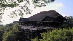 Kiyomizu temple Stock Footage
