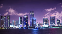 Miami Motion Time Lapse Stock Footage