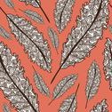 Stock Illustration of elegant seamless pattern with decorative feathers for your design