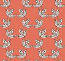 Stock Illustration of elegant seamless pattern with decorative leaves for your design