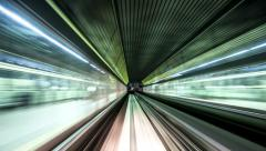 View from Monorail in Motion Stock Footage