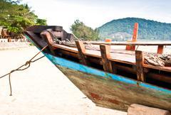 fishing boat header - stock photo