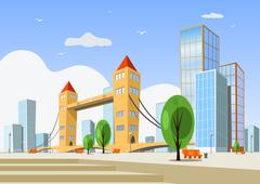 Stock Illustration of Summer abstract vector city