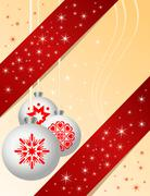 Stock Illustration of Traditional christmas ball with ornaments