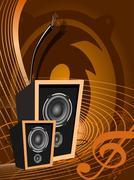 Abstract vector music design Stock Illustration