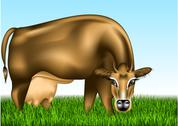 Stock Illustration of cow dairy