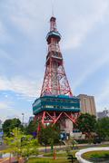 sapporo tv tower in sapporo japan - stock photo