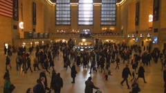 Indoor Grand Central Terminal Passenger People Hall Main Concourse New York City Stock Footage