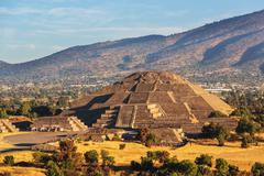 teotihuacan - stock photo