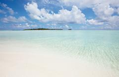 maldives beach - stock photo
