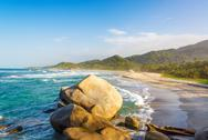 Stock Photo of tayrona beach and rocks