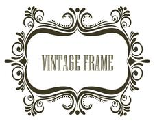 Black and white vintage frame Stock Illustration