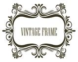Stock Illustration of black and white vintage frame