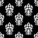 Stock Illustration of seamless pattern with floral motifs