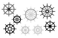 Stock Illustration of nautical ships wheels