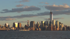 One World Trade Center Western Hemisphere skyline skyscraper New York USA day US Stock Footage