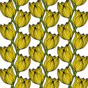 Stock Illustration of elegant seamless pattern with decorative yellow tulips, design element