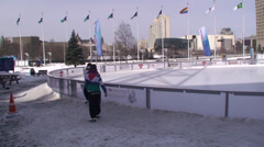 Ottawa's Rink of Dreams. #01 Stock Footage