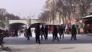 Stock Video Footage of Skaters on the Rideau Canal. #10