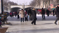 Stock Video Footage of Skaters on the Rideau Canal. #11