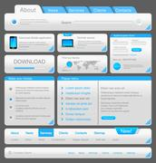 Web designers toolkit. design elements collection. white blue. vector) Stock Illustration
