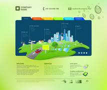 website template. infographics concept at the cap. business promo. vector. - stock illustration