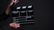 Stock Video Footage of Clapper Board