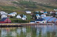 Stock Photo of the town of siglufjordur, the northern part of iceland