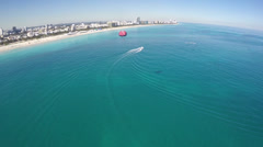Parasailing in Miami Stock Footage