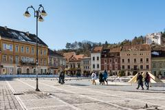 Council Square Of Brasov - stock photo