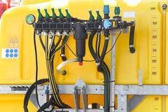agricultural sprayer pump - stock photo