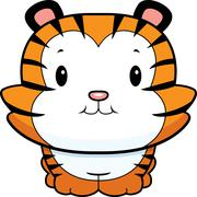 Baby Tiger Cub - stock illustration