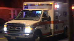 Ambulance Driving By Transporting A Patient To The Hospital Stock Footage