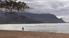 Bali Hai ,woman alone Stock Footage