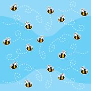 Bee Pattern Stock Illustration