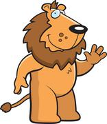 Lion Waving - stock illustration