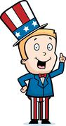 Patriotic Boy - stock illustration