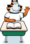 Stock Illustration of Tiger Student