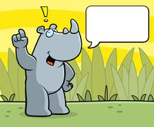 Rhino Talking Stock Illustration
