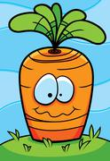 Carrot Planted Stock Illustration