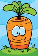Carrot Planted Stock Illustration