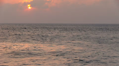 Maldives - Sunset over the indian ocean Stock Footage